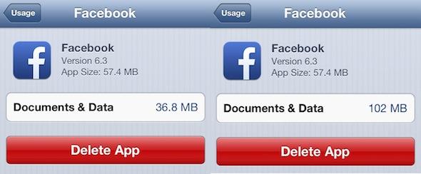 Facebook-cache