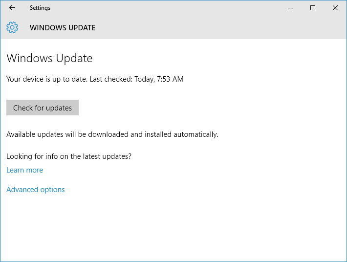 check-updates-windows-10